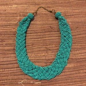 Teal thick statement necklace
